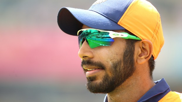 Jasprit Bumrah wearing glasses