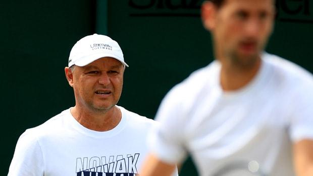 Marian Vajda and Novak Djokovic