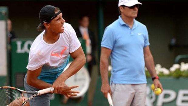 Toni Nadal and Rafael Nadal