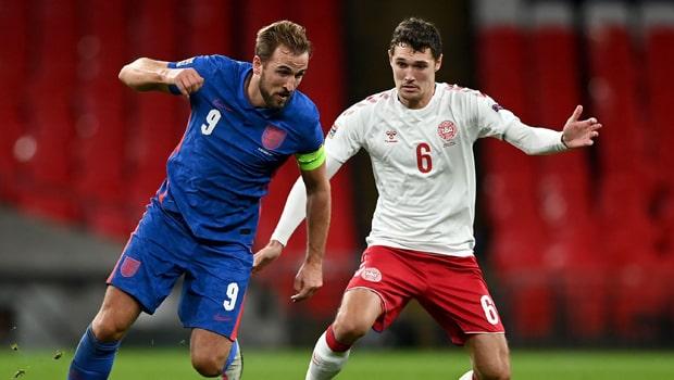 Harry Kane and Andreas Christensen Euro 2020